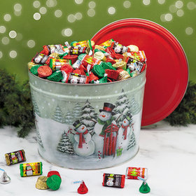 Hershey's Happy Holidays Mix Snow Family Tin - 10 lb