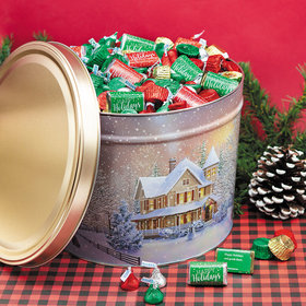 Personalized Hershey's Happy Holidays Mix Home for the Holidays Tin - 10 lb