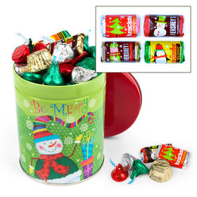 Merry Snowman Hershey's Chocolate Mix 1QT Tin