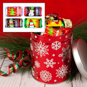 Red Snowflakes Hershey's Chocolate Mix 1QT Tin