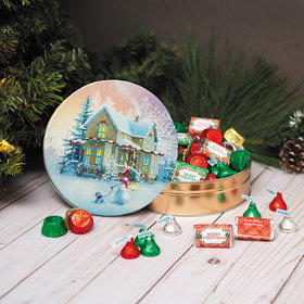 Personalized Hershey's Merry Christmas All Decked Out Tin - 1 lb