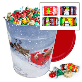 Santa's Sleigh Hershey's Holiday Mix 20lb Tin