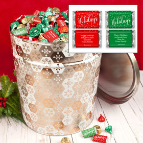 Personalized Shining Snowflakes 20lb Happy Holidays Assortment