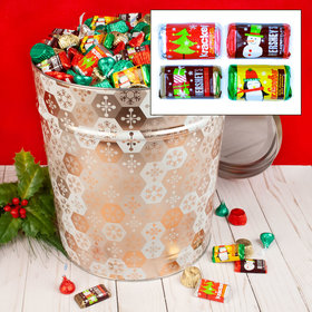 Shining Snowflakes 20 lb Hershey's Holiday Mix Tin