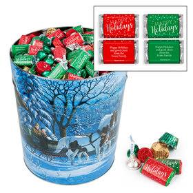 Personalized Through the Woods Happy Holidays Hershey's Mix 20lb Tin