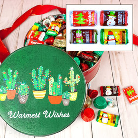 Festive Cacti 2 lb Hershey's Holiday Mix Tin