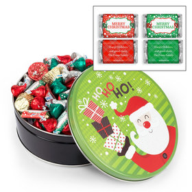 Personalized Santa with Gifts 2lb Merry Christmas Assortment