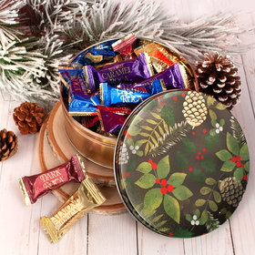 Golden Pinecones Christmas Gift Tin Assorted Roca (25pcs)