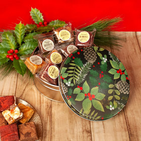 Golden Pinecones Christmas Gift Tin Assorted Brownies (16pcs)