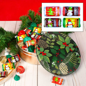 Golden Pinecones 2 lb Hershey's Holiday Mix Tin