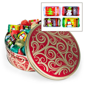 Golden Swirls 2 lb Hershey's Holiday Mix Tin
