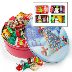 Penguin Tree 2 lb Hershey's Holiday Mix Tin