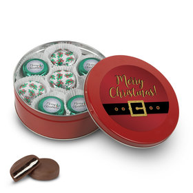 Merry Christmas Red Santa Chocolate Oreo Gift Tin