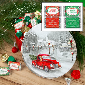 Personalized Snowy Drive 2lb Merry Christmas Assortment