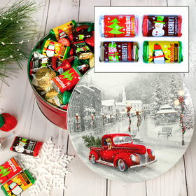 Snowy Drive 2 lb Hershey's Holiday Mix Tin