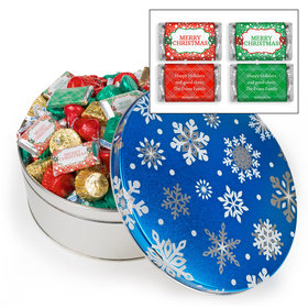 Personalized Blue Flurries 3lb Merry Christmas Assortment