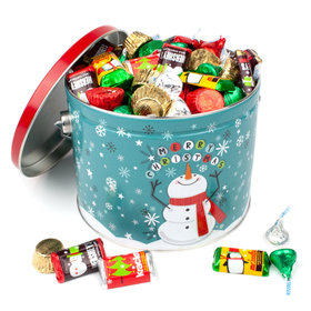 Cheery Snowman 3.5 lb Hershey's Holiday Mix Tin