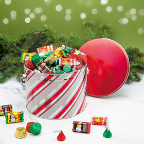 Candy Stripes 3.5 lb Hershey's Holiday Mix Tin
