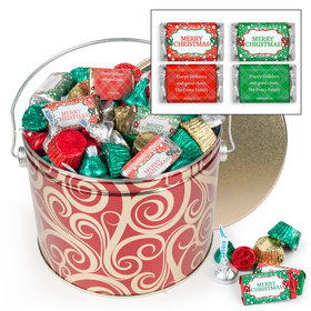 Personalized Golden Swirls 3.5lb Merry Christmas Assortment
