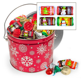 Red Snowflake 3.5 lb Hershey's Holiday Mix Tin