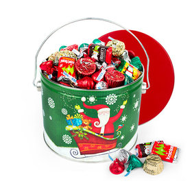 Sparkly Santa 3.5lb Hershey's Holiday Mix Tin
