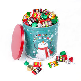 Cheery Snowman 5lb Hershey's Holiday Mix Tin