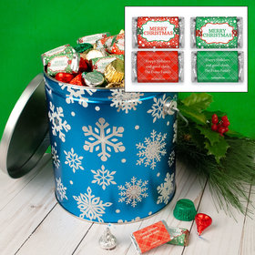 Personalized Flurries 5lb Merry Christmas Assortment