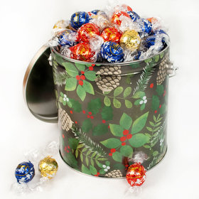 Golden Pinecones 3.55lb Holiday Tin Assorted Lindt Truffles (130pcs)