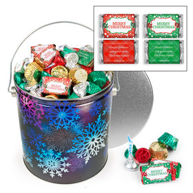 Personalized Spectral Snowflake 5lb Merry Christmas Assortment