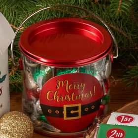 Santa's Red Paint Can 1lb Hershey's Kisses