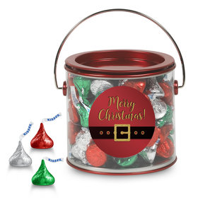 Merry Christmas Hershey's Kisses Red Paint Can