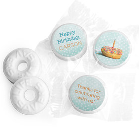 Personalized Donut Worry Be Happy Birthday Life Savers Mints