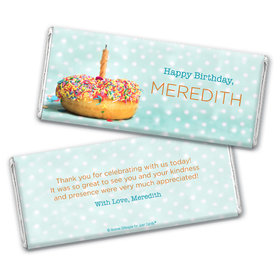 Personalized Birthday Donut Worry be Happy Chocolate Bar