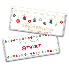 Personalized Christmas Happiest Ornaments Chocolate Bars
