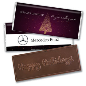 Personalized Christmas Joyful Season Embossed Chocolate Bar