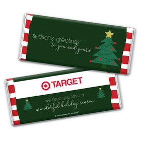 Personalized Christmas Very Merry Greetings Chocolate Bar Wrappers Only