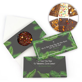 Personalized Easter Botanical Bible Verse Gourmet Infused Belgian Chocolate Bars (3.5oz)