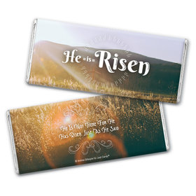 Personalized Easter Divine Scenery Chocolate Bar Wrappers Only