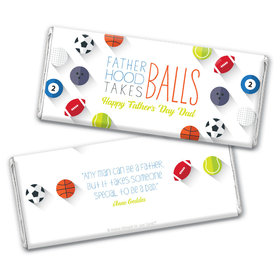 Personalized Father's Day Clever Balls Chocolate Bar