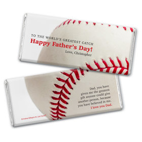 Personalized Father's Day World's Greatest Catch Chocolate Bar