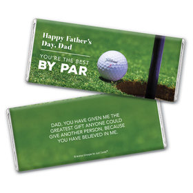 Personalized Father's Day Best by Par Chocolate Bar