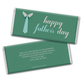 Personalized Father's Day Timeless Tie Chocolate Bar Wrappers