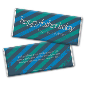 Personalized Father's Day Strength in Stripes Chocolate Bar Wrappers