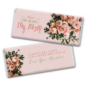 Personalized Mother's Day Thank You Bouquet Chocolate Bar