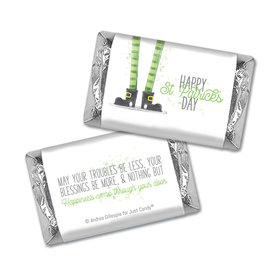 Personalized St. Patrick's Day Lucky Feet Mini Wrappers
