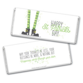 Personalized St. Patrick's Day Lucky Feet Chocolate Bars