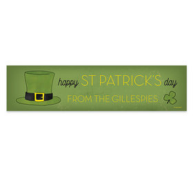Personalized Rustic Irish Hat St. Patrick's Day Banner