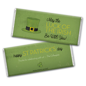 Personalized St. Patrick's Day Rustic Irish Hat Chocolate Bars