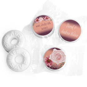 Personalized Wedding Blushing Burgundy LifeSavers Mints