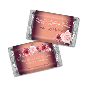 Personalized Blushing Burgundy Wedding Hershey's Miniatures
